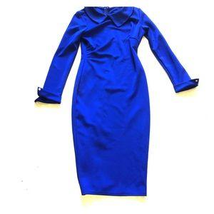 Dresses & Skirts - Cobalt blue Peter Pan collar wiggle dress 👗